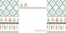 TeePee Print 2 column free blog background preview