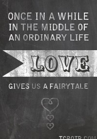 LOVE GIVES US A FAIRYTALE BUTTON