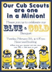 blue and gold banquet invite tcbotb