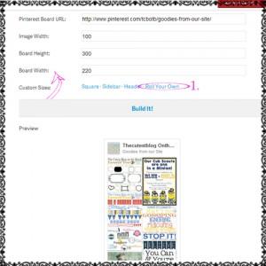 how to add custom pinterest widget feed to blog sidebar