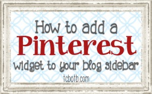 how to add pinterest widget to blog sidebar