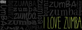 i love zumba in green