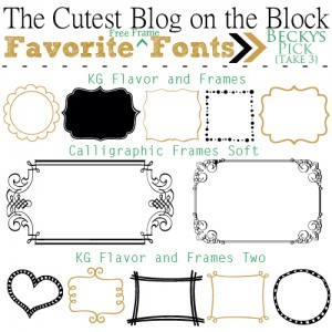 tcbotb favorite free frame cute fonts 2014