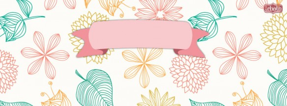 flirty floral facebook timeline cover