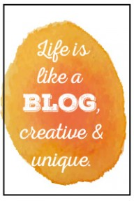 life is like a blog