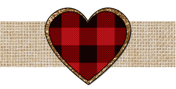 RAD PLAID VALENTINE BANNER