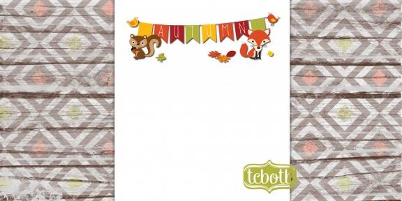 autumn critters 2 column preview